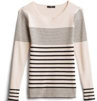 FATE Bolly Boatneck Fitted Knit Pullover, L