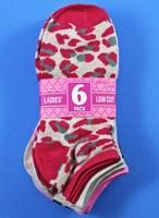 6 Pack Ladies Low Cut Socks