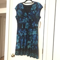 Jones New York Blue Floral Dress