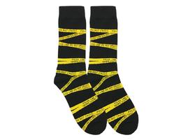 Police tape socks