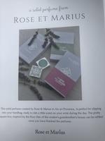 Rose et Marius perfume tile