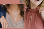 Nashelle Heather Drop Lariat Necklace in Gold or Silver