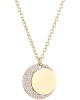 Jules Smith - Moon Crystal Coin Necklace