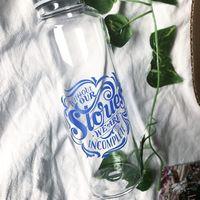 Stardust Glass Water Bottle