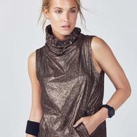 Liora Vest - Black & Rose Gold