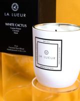 La Lueur Candles White Cactus Coconut Wax Candle