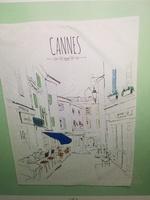 Cannes Tea Towel