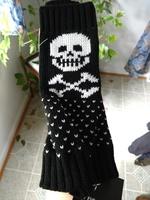 Skeleton fingerless gloves