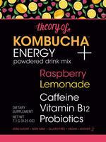 Theory of Kombucha Powdered Drink Mix, Energy + Raspberry Lemonade