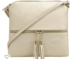 MALIBU SKYE Gold Anna Tassel Crossbody Bag