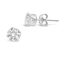 Sterling Forever – Sterling Silver CZ Stud Earrings