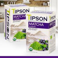 Tipson Organic Matcha Tea Infusion Blueberry