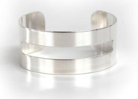 Robyn Rhodes The Marlowe Cuff Bracelet Sterling Silver