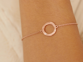 Adore by Swarovski® Organic Circle Bracelet in Rose Gold