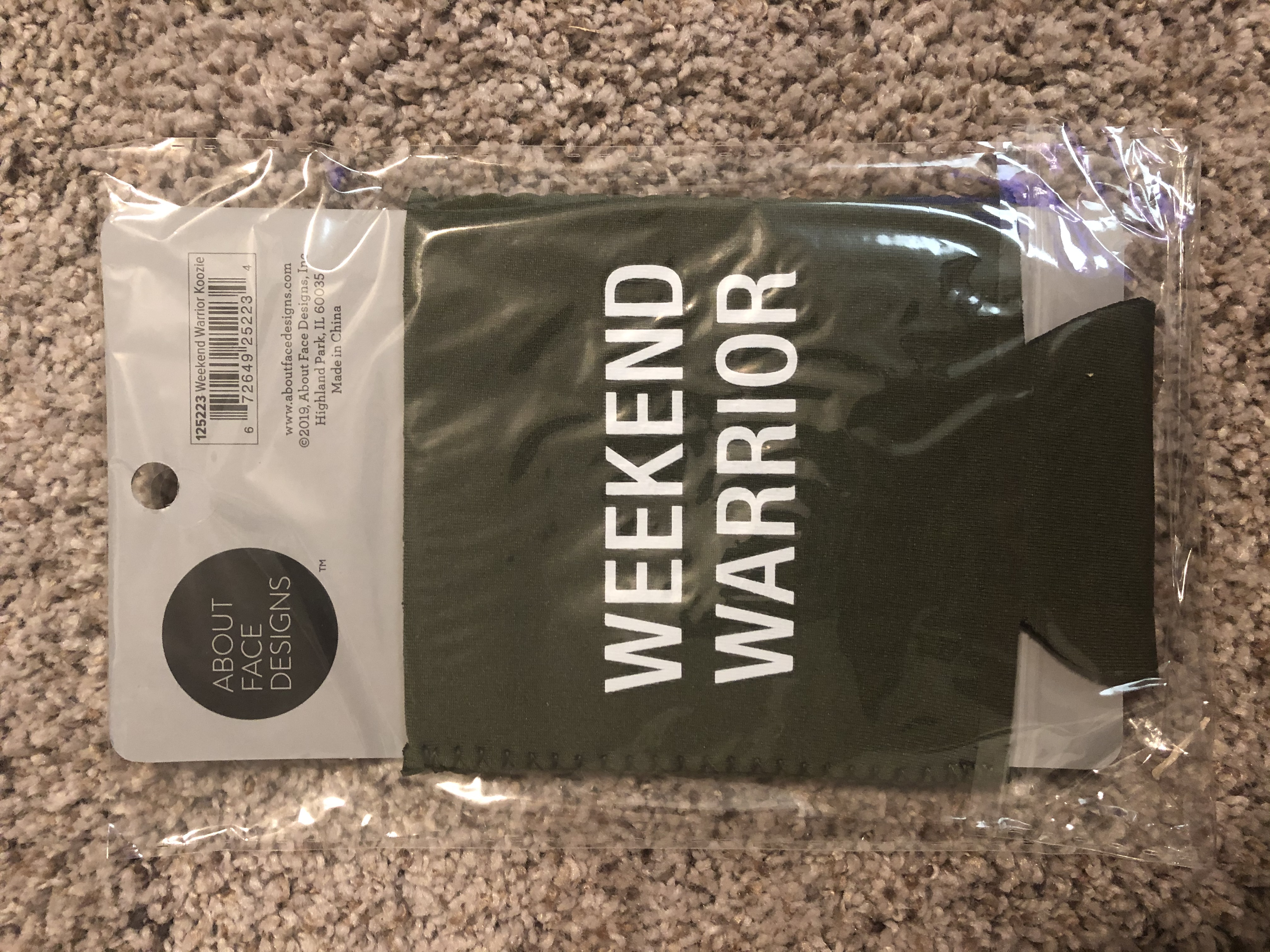"""""""Weekend Warrior"""" Can Koozie by Aboutface Designs"""