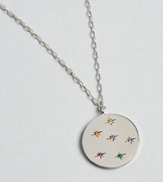 Tai - Rainbow Silver Medallion Necklace