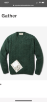 100% Wool Cable Sweater