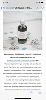 CHARCOAL INFUSED ILLUMINATING BODY OIL