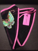 Betsy Johnson black mesh undies with butterfly