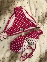 Adore me pink and white polkadot bikini