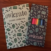 Owlcrate Exclusive Coloring Book and Colored Pencils