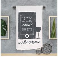 Wine Winks Kitchen Towel - Boxed Wine Cardboardeaux