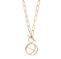Wanderlust + Co - Infusion Toggle Necklace 18K Gold Plated