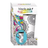 Black Ink Coloring Mug