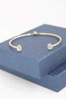 Serefina Rose Cut CZ Cuff Bracelet