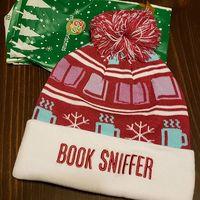 Book Sniffer Pom Pom Beanie Hat