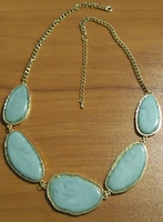JewelMint Light Green Statement Necklace
