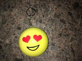 Emoji Heart Eyes Squishy Keychain