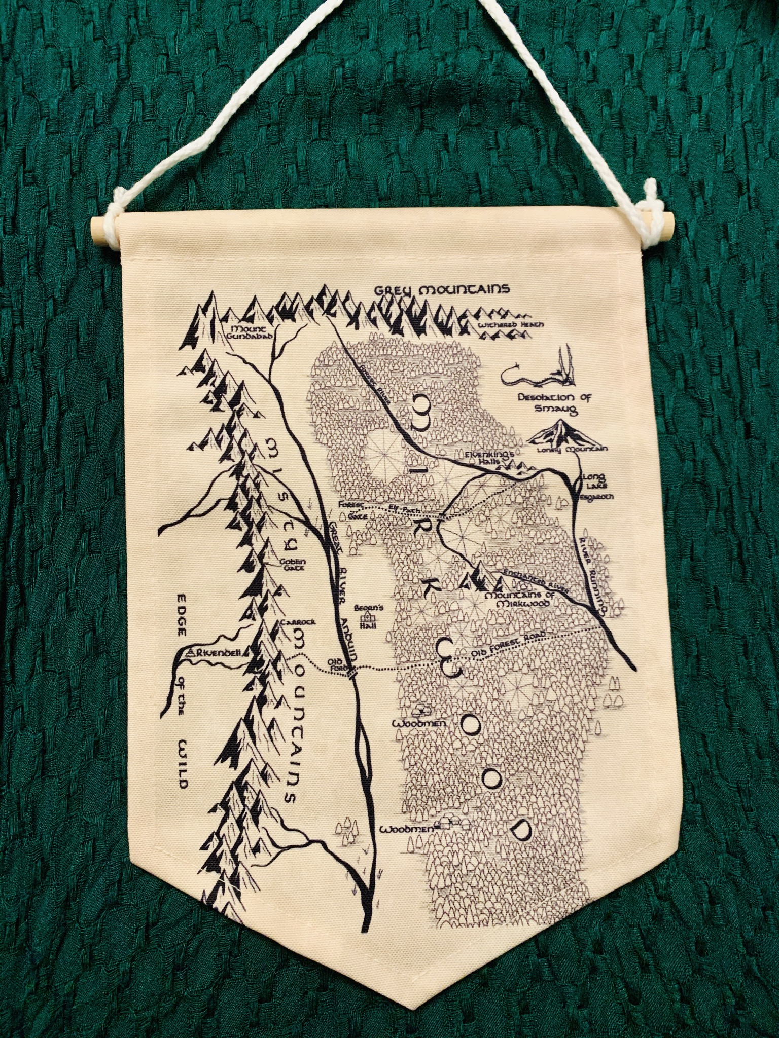 The Hobbit Map Pin Banner - LOTR