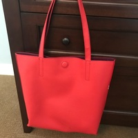 Red and Purple Reversible Tote