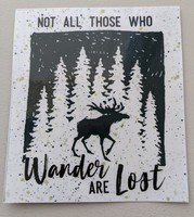 Not all those who wander are lost vinyl sticker