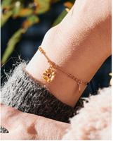 Les Nereides Flower Charm Bracelet