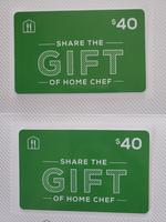$40 Home Chef gift cards