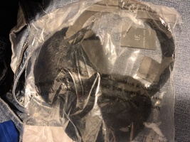 'Unreal Fur' Black Faux Fur Short Pile Ear Muffs