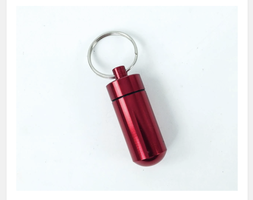 Keychain pill container