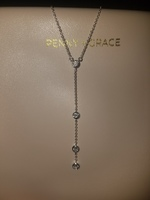Penny + Grace Cascade Lariat Necklace in Silver