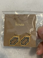 Kevia Earrings (Gold and Black)