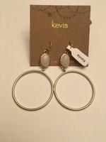 Gold Hoop Earrings by Kevia