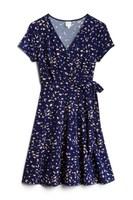 Kaileigh Arnett Faux Wrap Knit Dress
