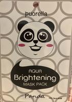 Puorella aqua animal sheer mask  panda version