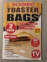 Te-useable toaster bags
