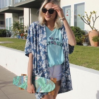 Hawaiian Blooms Kimono by Known Supply