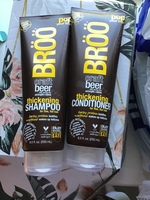 Broo craft beer thickening shampoo and conditioner