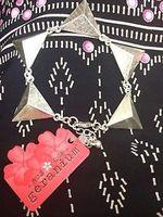 Geranium Silver Triangle Bracelet