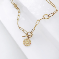 Solis Gold Toggle Necklace by Wanderlust + Co