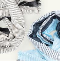 Organic cotton haiku spring scarf in blue